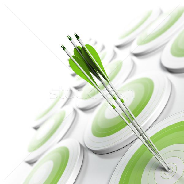Competitivo vantaggio strategico marketing molti verde Foto d'archivio © olivier_le_moal