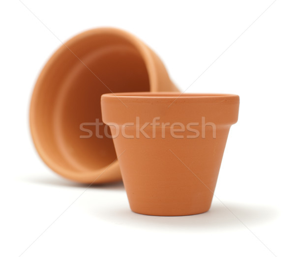Unused Clay Pot Over White Stock photo © olivier_le_moal