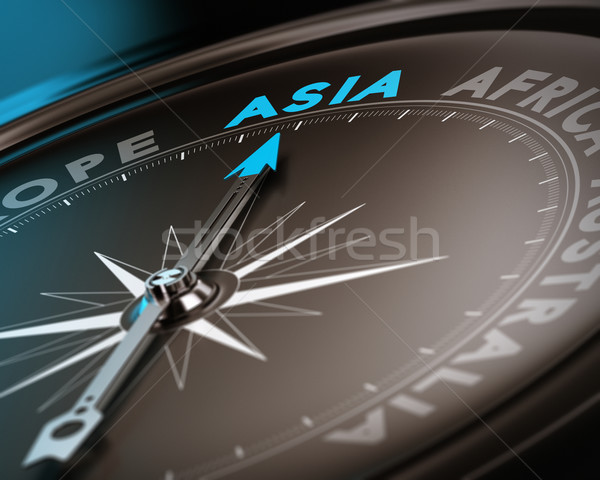 Stockfoto: Asia · abstract · kompas · naald · wijzend
