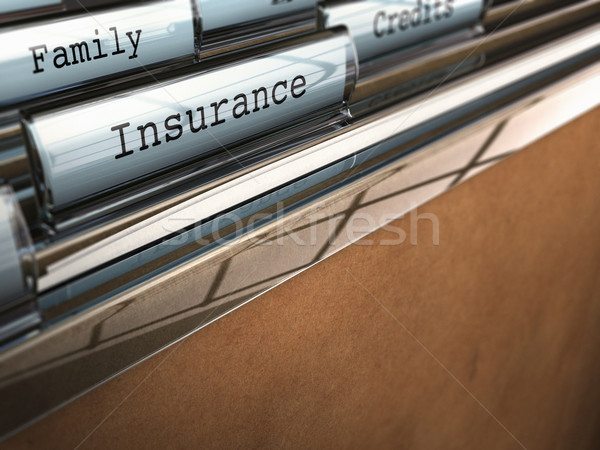 Insurance folder, family security Stock photo © olivier_le_moal