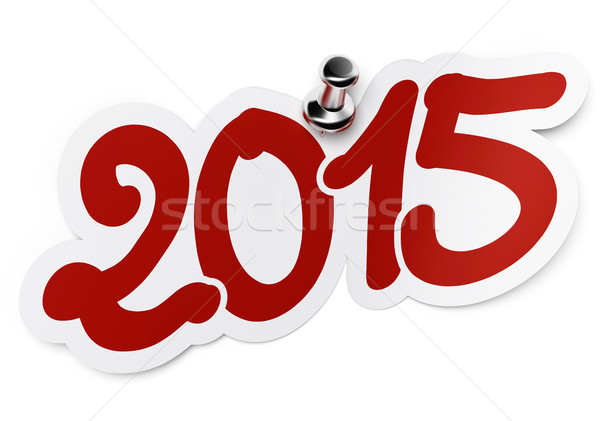 Ano novo 2015 dois mil quinze vermelho Foto stock © olivier_le_moal
