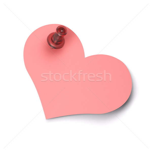 empty heart note Stock photo © olivier_le_moal