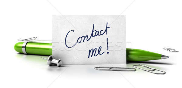 Stock photo: Contact me business card