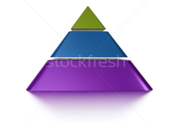 sliced pyramid chart 3 levels Stock photo © olivier_le_moal