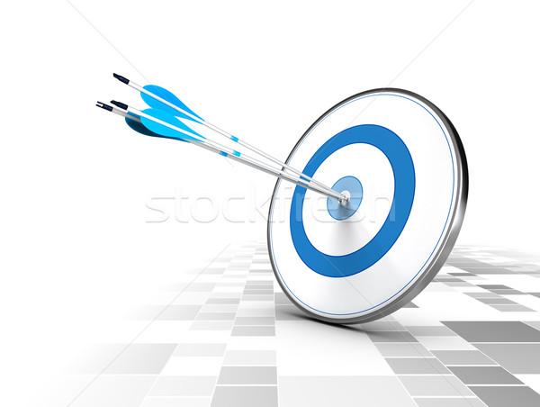 Business Corporate Strategie drei Pfeile Zentrum Stock foto © olivier_le_moal