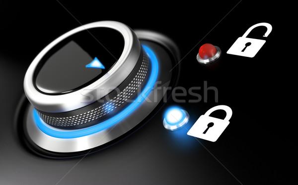データ保護 画像 実例 ボタン 2 南京錠 ストックフォト © olivier_le_moal