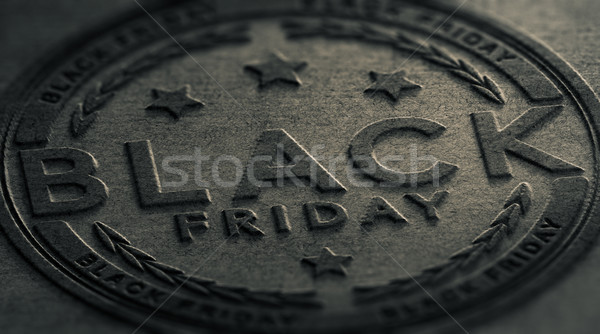 Grungy Black Friday Event Sign Stock photo © olivier_le_moal