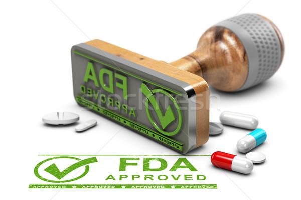 Aprovado drogas aprovação texto pílulas Foto stock © olivier_le_moal