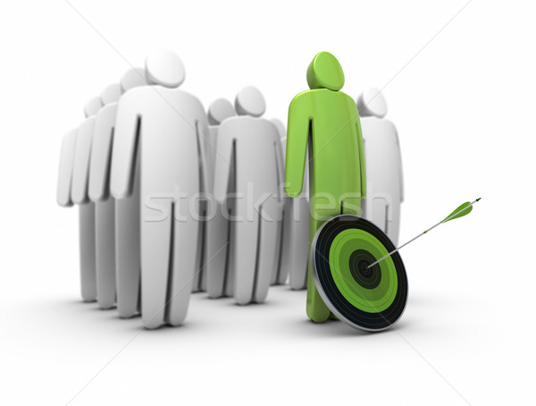 business talent, career. Standing out from the crowd Stock photo © olivier_le_moal