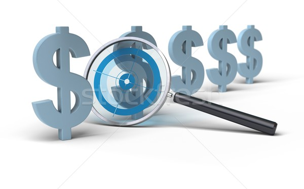focus on price - dollar Stock photo © olivier_le_moal