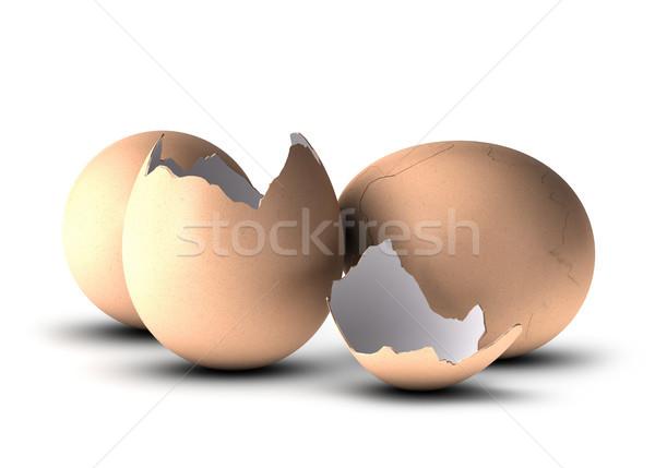 Születés három tojások egy másik repedt Stock fotó © olivier_le_moal