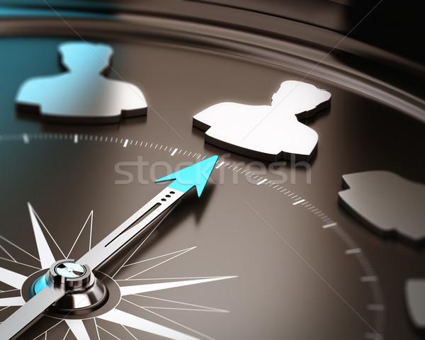 Reclutamiento candidato brújula aguja senalando Foto stock © olivier_le_moal