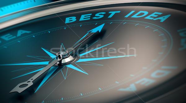 Best idee kompas naald wijzend woorden Stockfoto © olivier_le_moal