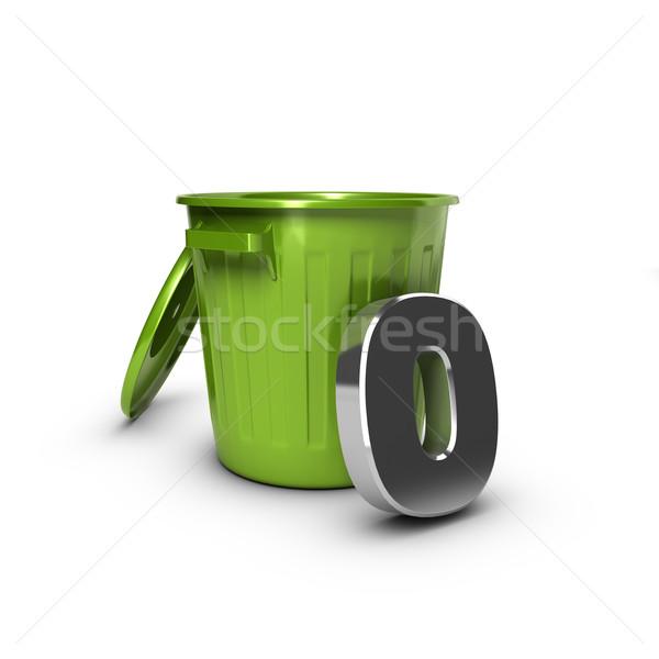 Nulla szemét cél szám zöld tároló Stock fotó © olivier_le_moal