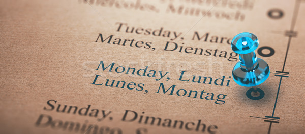 Day of the Week, Monday Stock photo © olivier_le_moal