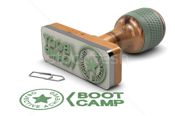 Boot Camp Concept. Objective Achieved Certificate over White Bac Stock photo © olivier_le_moal