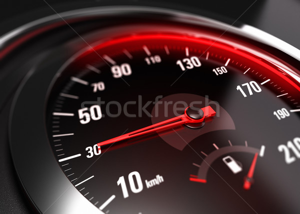 Reducing Speed Safe Driving Concept - 30 Km h Stock photo © olivier_le_moal