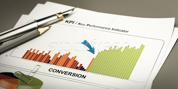 Convert Leads, Conversion Rate Optimization. Stock photo © olivier_le_moal
