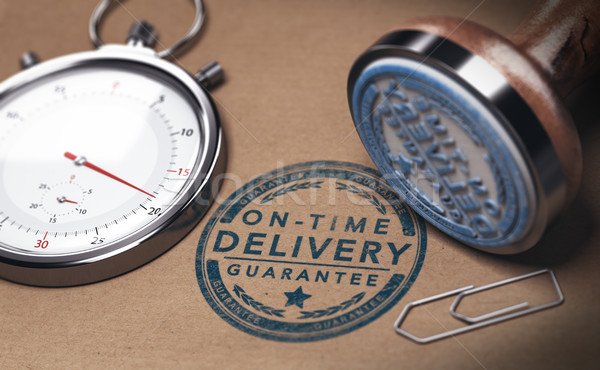 On Time Delivery, Courier Service and Punctuality Stock photo © olivier_le_moal