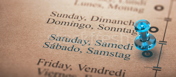 Event Calendar, Day of the Week, Saturday Stock photo © olivier_le_moal