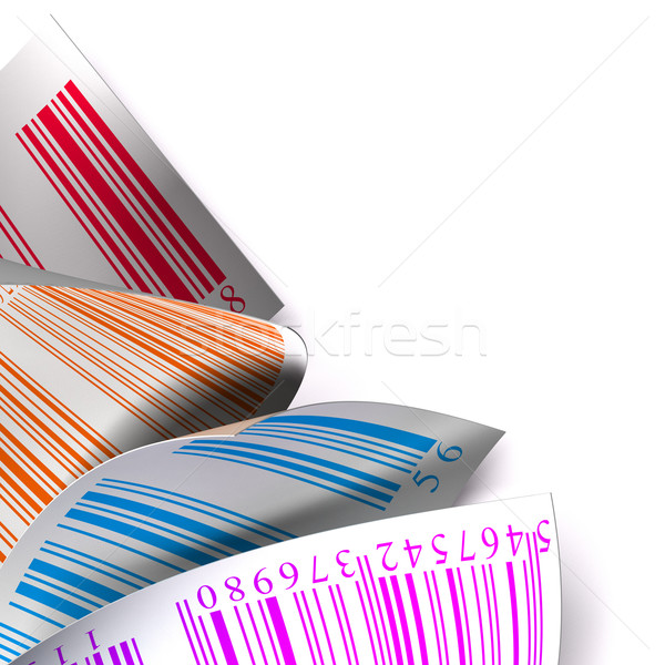 Veelkleurig sticker label witte stickers kleuren Stockfoto © olivier_le_moal