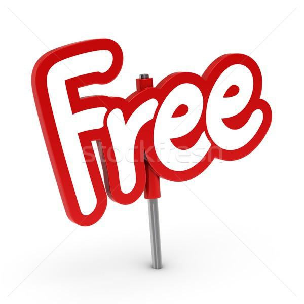 Rood gratis tag witte teken kleur Stockfoto © olivier_le_moal
