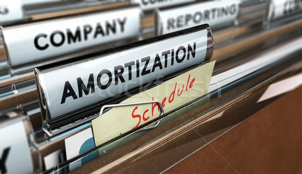 Menetrend közelkép akta szó jegyzet kézzel írott Stock fotó © olivier_le_moal