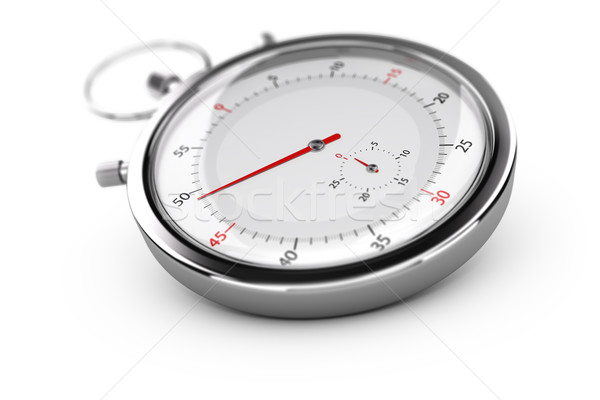 Chronograph, Stopwatch Over White Stock photo © olivier_le_moal