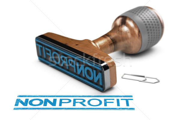Nonprofit Organization or Association, Rubber Stamp Over White B Stock photo © olivier_le_moal