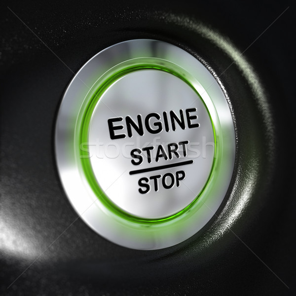 Engine Start and Stop Button, Automobile Starter Stock photo © olivier_le_moal