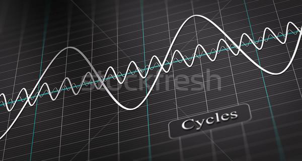 ビジネス 経済の サイクル 3次元の図 図 ストックフォト © olivier_le_moal