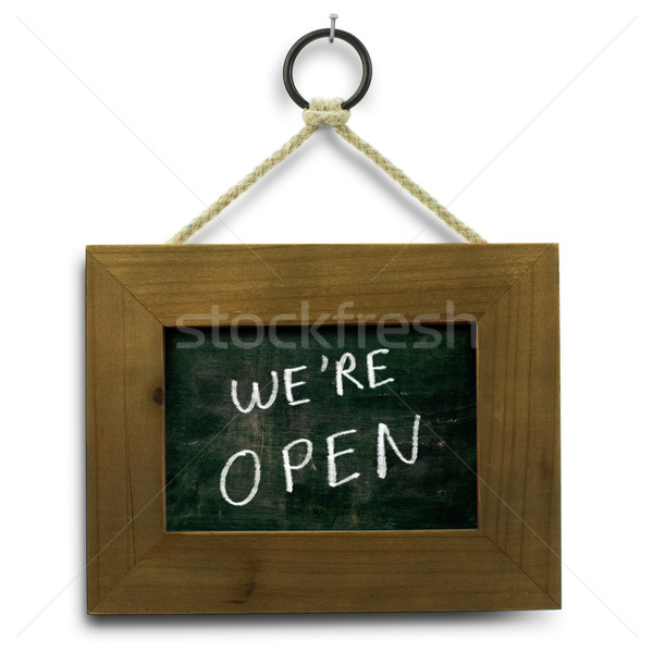 we are open sign Stock photo © olivier_le_moal