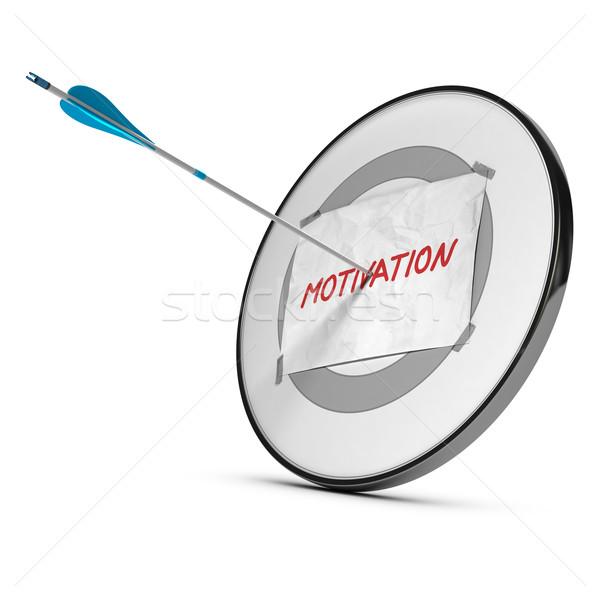 Motivasyon motive bir ok hedef Stok fotoğraf © olivier_le_moal