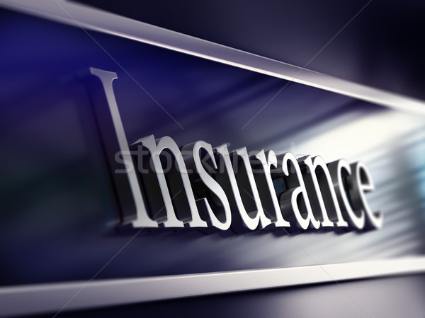 insurance company plaque, 3d rendering Stock photo © olivier_le_moal