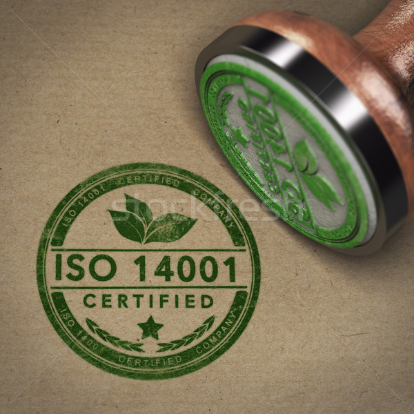 ISO 14001 Certified Company Label Stock photo © olivier_le_moal