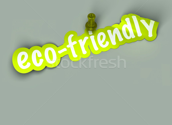 green eco friendly sign Stock photo © olivier_le_moal