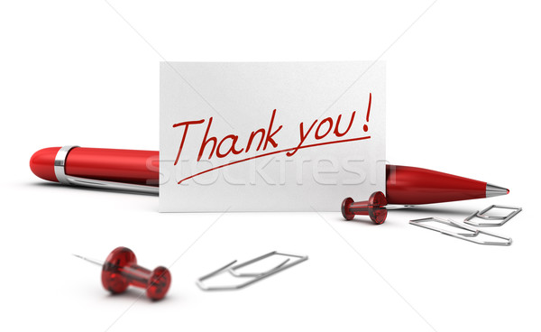 Thank You, Acknowledgment Card  Stock photo © olivier_le_moal
