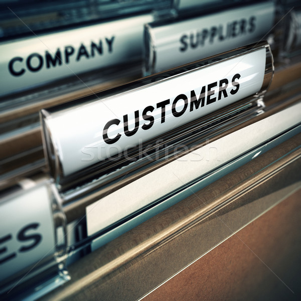 Customers Base or File Concept Stock photo © olivier_le_moal