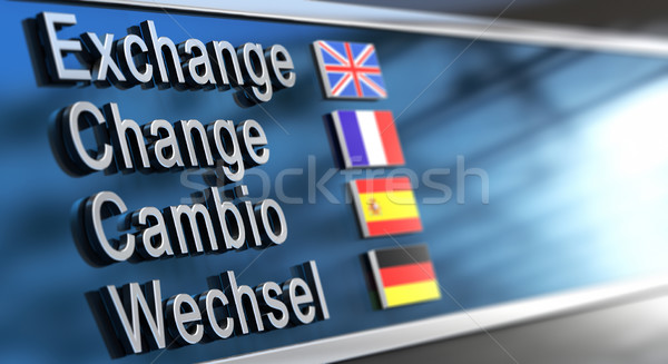 Cambio, change, exchange, Wechsel Stock photo © olivier_le_moal