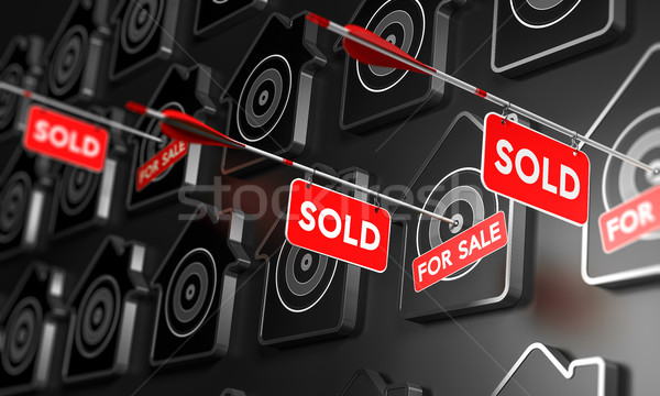 Real Estate Sold Sign Concept. Stock photo © olivier_le_moal