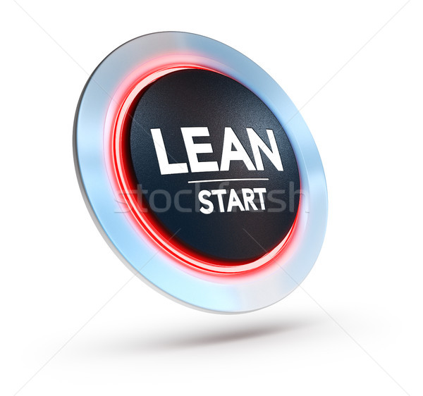 Lean Manufacturing Training Concept Over White Background Stock photo © olivier_le_moal