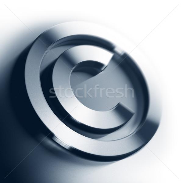 Diritto d'autore simbolo metal bianco piazza immagine Foto d'archivio © olivier_le_moal