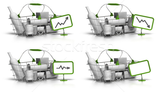 average basket value or size - pricing concept Stock photo © olivier_le_moal