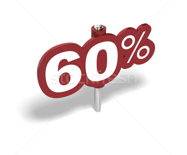 sixty percentage sign, 60 percent Stock photo © olivier_le_moal
