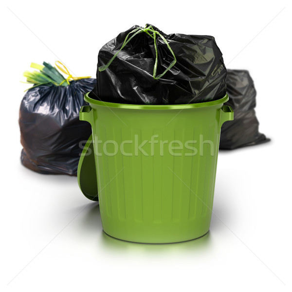 green garbage can Stock photo © olivier_le_moal