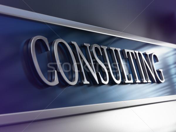 Consulting фирма компания бизнеса перспективы Сток-фото © olivier_le_moal