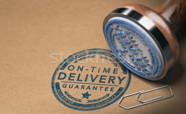 Mensajero servicio imagen tiempo entrega garantizar Foto stock © olivier_le_moal