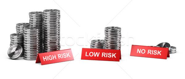Magas alacsony nem kockázat beruházás jutalom Stock fotó © olivier_le_moal