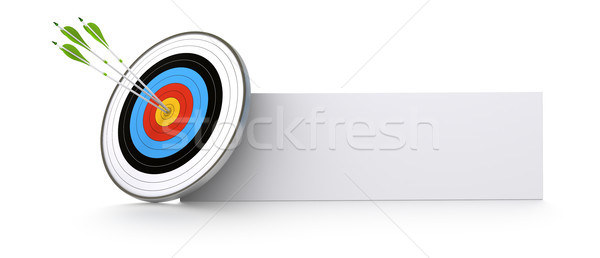 marketing and business success concept Stock photo © olivier_le_moal