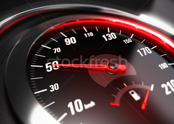 Reducing Speed Safe Driving Concept - 50 Km h Stock photo © olivier_le_moal